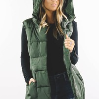 Sucker For Love Olive Puffer Vest