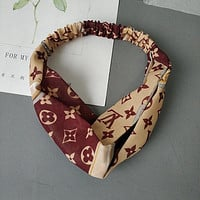 Louis Vuitton LV Women Fashion Print Hair Band Headband Headwrap