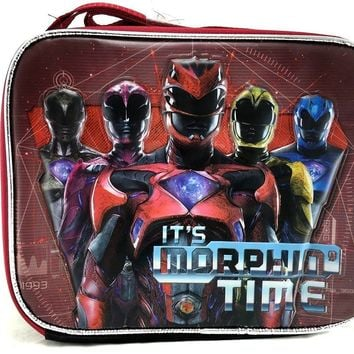 New 2017 Saban's Power Rangers It's Morphin Time Insulated Lunch Bag/Box