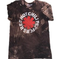 Hand Bleached Red Hot Chili Peppers Band Tee