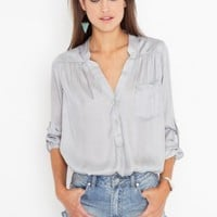 Silver Lining Blouse - NASTY GAL