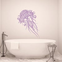 Jellyfish Decal Sea Jelly Wall Decals Bathroom Vinyl Sticker Bohemian Bedding Bathroom Home Decor T180