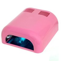 Plixio 36 Watt Acrylic & Gel Curing UV Lamp Nail Dryer with Timer and Slide Tray (Pink)