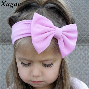 Lovely Girls Cotton Headband Solid Hair Bows Headbands For Kids  New Arrival Newborn Kids Cotton Hair Accessories