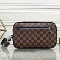 LV Louis Vuitton Fashion Women Leather Clutch Bag Leather Tote Handbag Cosmetic Bag I