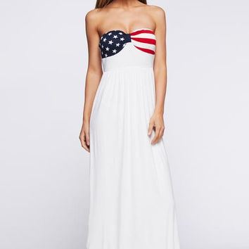 4th of July Maxi Dress - White