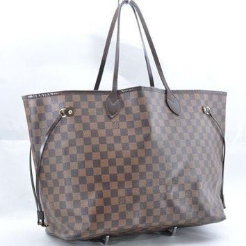 ONETOW Tagre? Authentic Louis Vuitton Damier Neverfull GM Tote Bag N51106 LV 36746