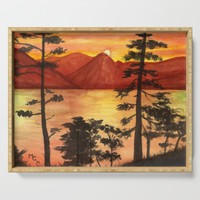 Sunset Serving Tray by savousepate