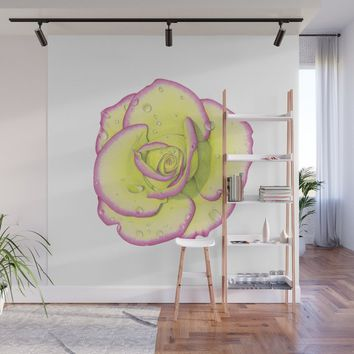 Rose - After the Rain Wall Mural by drawingsbylam
