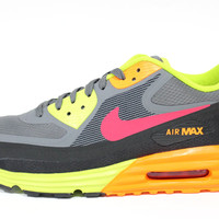 Nike Men's Air Max Lunar-90 WR Dark Grey/Orange Running Shoes 654471 001