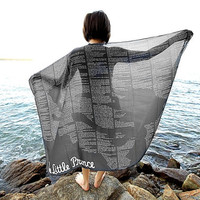 The Little Prince Book Scarf - Black