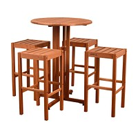 Amazonia Westerdam 5 Piece Patio Bar Set
