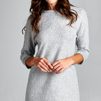 Soft Fuzzy Tunic - Heather Grey
