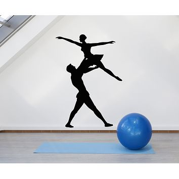 Vinyl Wall Decal Ballet Theatre Music Dance Silhouette Dancing Couple Stickers Mural (g986)