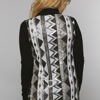 Aztec Glitter Sweater Cardigan
