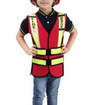 CREY6F High quality Cosplay Halloween party game costume for children fireman Traffic police costumes Boys Pilot garment Sailor uniform
