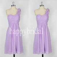 Short Lavender One Shoulder Bridesmaid Dresses Prom Dresses Homecoming Dresses 2014 New Fashion