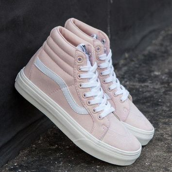 Vans Fashion Women Casual Classic Canvas Old Skool High Help Flats Sneakers Sport Running Shoes I
