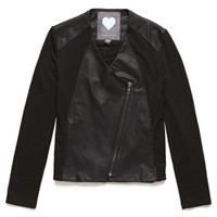 Kendall & Kylie Faux Leather Ponte Mix Jacket at PacSun.com