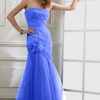 Blue Ball Gown Short Strapless Dress [2077335] - $89.00 : dressoutletstore.co.uk, Wedding Dresses Outlet