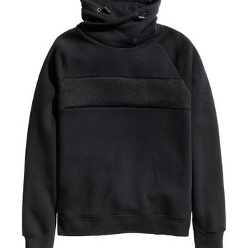 Chimney-collar Sweatshirt - from H&M