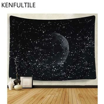 Wall Hanging Tapestry Moon Star Print Wall Decor Tapestry Bohemian Beach Hippie Blanket Tapestries Boho Wall Hanging Carpet