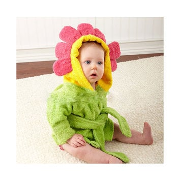 15 Color Children Bathrobe Pure Cotton Good Hydroscopicity Cartoon Cute Sleepwear Pajamas   Sunflower