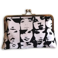 Pop Faces Clutch Purse by retrospettive on Etsy