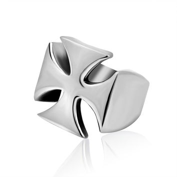 Jewelry Shiny New Arrival Gift Stylish Simple Design Cross Fashion Titanium Accessory Ring [6544880643]