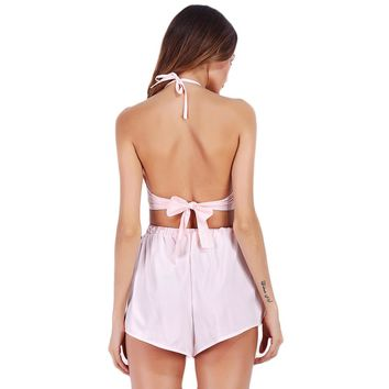 Crop Top Shorts Romper