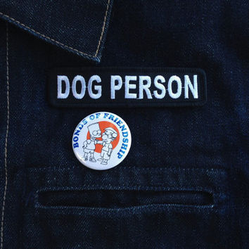 Dog Person : MC Name Tag Inspired Embroidered Patch
