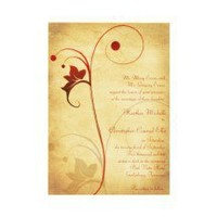 Customizable Autumn Rustic Wedding Invitation