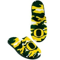 Oregon Ducks Camouflage Slide Slippers