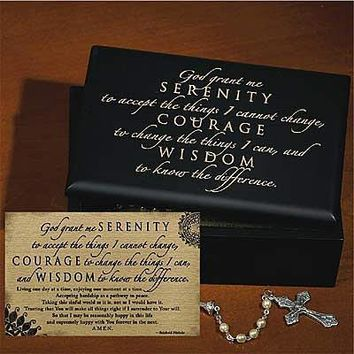 Serenity Prayer - Wooden Engraved Box & Card