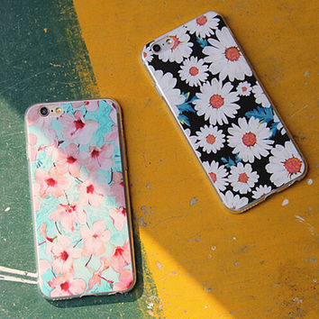 Retro Floral Silicone creative case for iPhone 5s 6 6s Plus Lover Gift-87