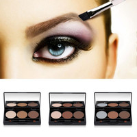 Perfect Summer Eyebrow Enhancers Professional 3 Colors Eyebrow Powder Palette With Double Ended Brush Eye Brow Makeup Kit