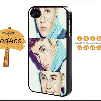 Justin Bieber, iPhone 5C case, iPhone 5 case, Resin phone cases, Galaxy S4 case, Note 3 case, iPhone 4 case, Galaxy S5 case--N0045