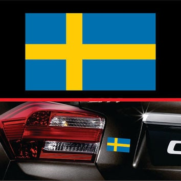 Sweden Swedish Flag Sticker Vinyl Decal Car Truck Sticker Macbook Pro Sticker Macbook Air Decal Laptop Decal Self Adhesive Window Decal