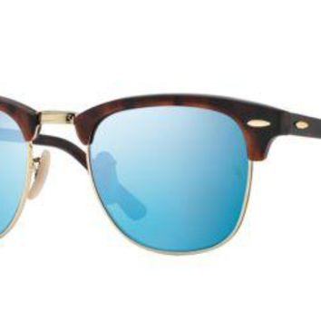 Cheap Ray Ban RB3016 114517 49M Sand Havana/Gold/Grey Mirror Blue outlet
