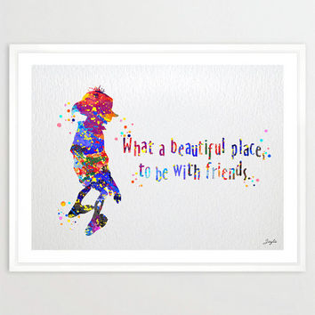 Dobby Quote from Harry Potter Watercolor illustration Art Print,Friendship Quotes,Nursery/Kids Art Print,Wedding,Birthday Gift,No 78