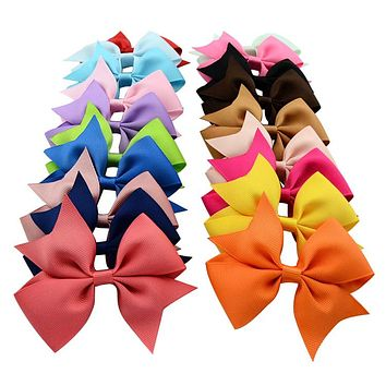 40pcs/lot Hot Sell Summer Style Grosgrain Ribbon Hair Bows Girl Boutique Bow Hairbows with Clip Kids Hair Accessories 565