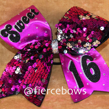 Sweet 16 Cheer Bow