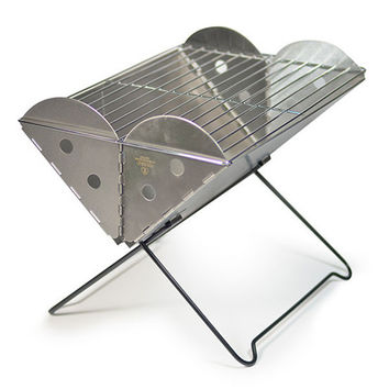 Flatpack Portable Grill & Firepit, Stainless Steel