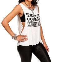White Trucks, Cowboys & Country Music Tee
