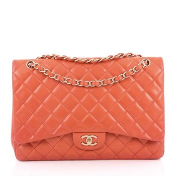 Chanel Pre-Owned: Classic Single Flap Bag Quilted Lambskin Maxi | Bluefly.Com
