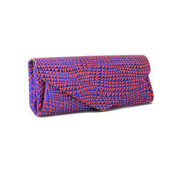 CARMINE JAPANESE NEON LEATHER LONG WALLET