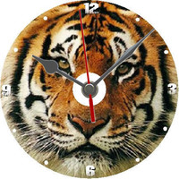 Tiger dvd clock gift personalised free with display stand individually boxed