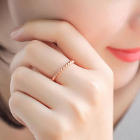 Fashion  Gold Silver Simple Alloy Spiral Finger Rings For Women Fashion Jewelry