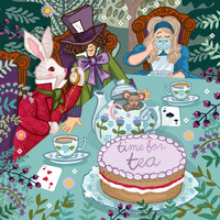 Time For Tea Art Print by Angie Spurgeon