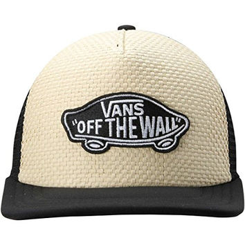 Vans Natural Classic Patch Woven Straw Trucker Plus Thatch Adjustable Hat